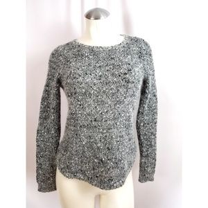 Ann Taylor Size PS SP Gray Sweater Mohair Blend